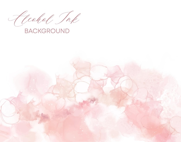 Коралловые розовые спиртовые чернила фон