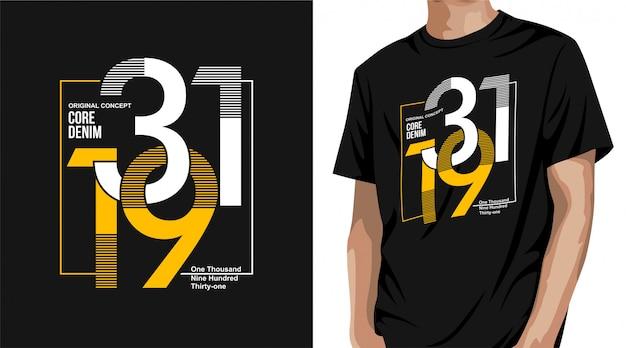 Core denim t-shirt design
