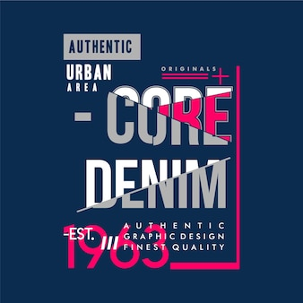 Типография core denim