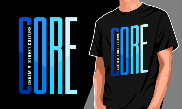 Core graphic t shirt for print