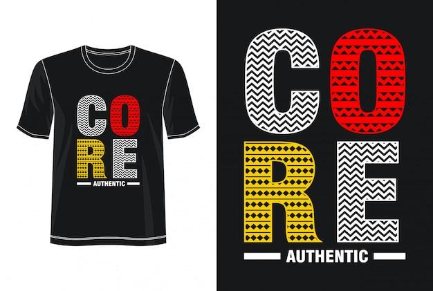 Основная типография дизайн футболки