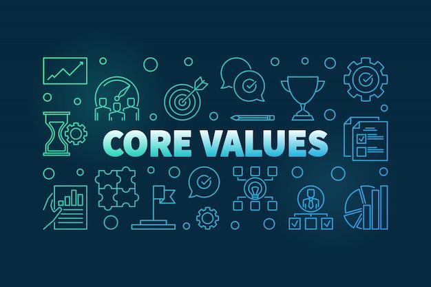 Core values background