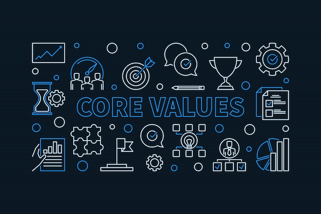 Core values outline icons