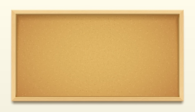 Cork board in wood frame background, realistic corkboard or noticeboard for pin or thumbtack memo. office cork board or school message pinboard for bulletin notes and task posts
