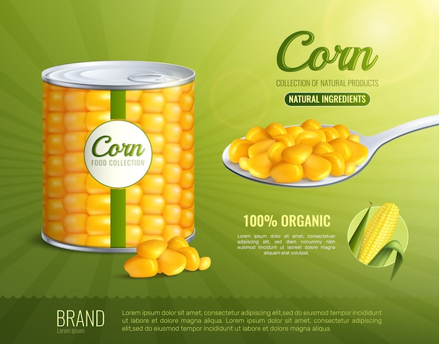 Corn advertising poster