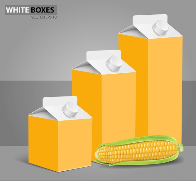 Corn: carton boxes