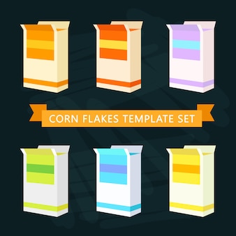 Corn flakes boxes template