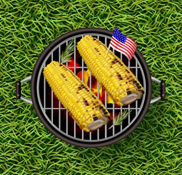 Corn on grill