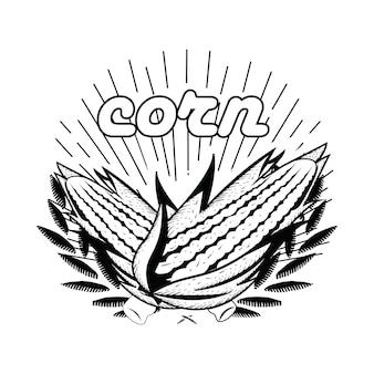 Corn hand draawn