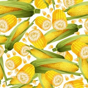 Бесшовный фон из кукурузы