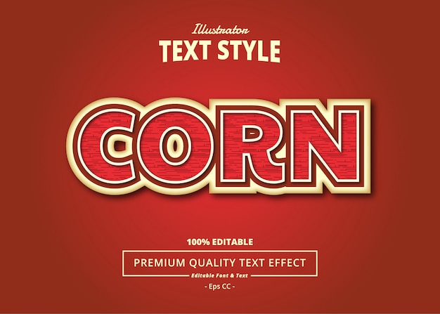 Corn text effect