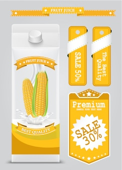 Corn: white carton boxes