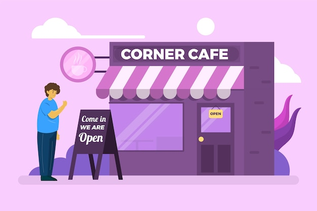 Угловая кофейня заново открывает бизнес