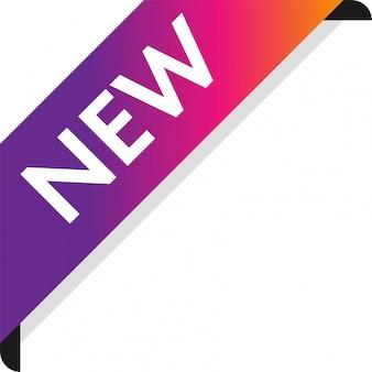Corner new ribbon banner