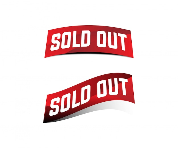 Corner sold out red ribbon banner