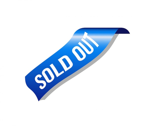 Corner sold out ribbon banner