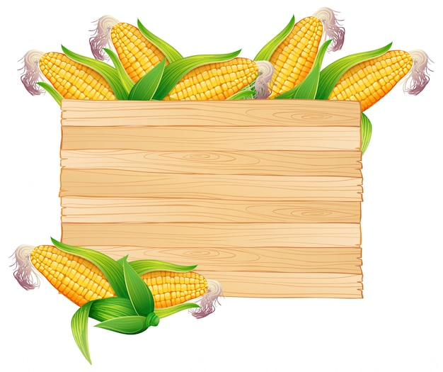 Corns in wooden bucket