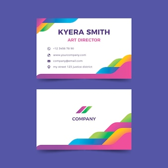 Corolorful abstract business card template