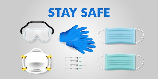 Corona covid virus stay safe campaign editable background