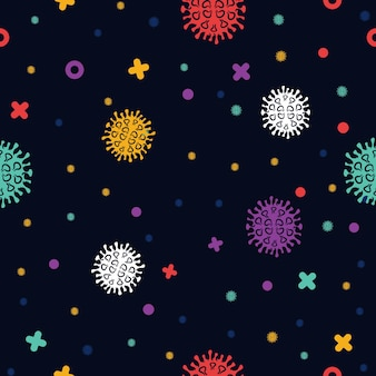Corona virus covid disease pattern seamless background