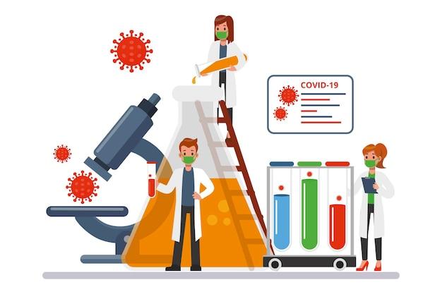 Sviluppo dell'antidoto al coronavirus con i ricercatori