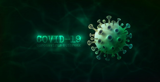 Фон коронавируса. клетка вируса микроорганизмов бактерий бактерий.