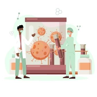 코로나 바이러스 박테리아, 백신 개발로 수감