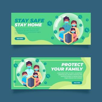 Coronavirus banners template