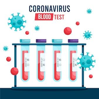 コロナウイルスの血液検査のコンセプト