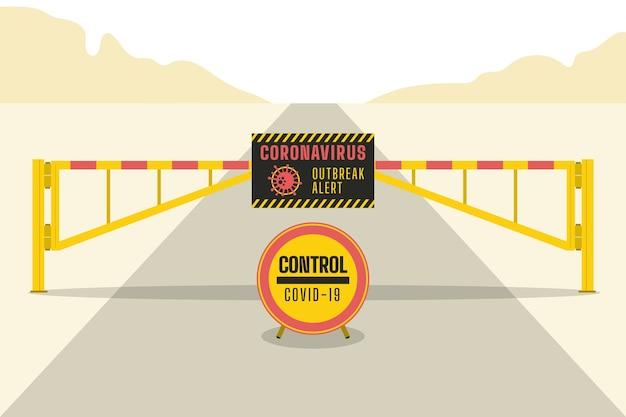 Coronavirus border closure
