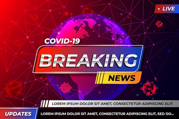 Coronavirus breaking news - background