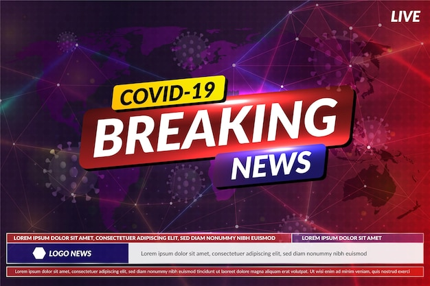 Coronavirus breaking news - background