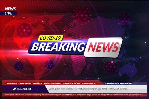 Coronavirus breaking news - background Premium Vector