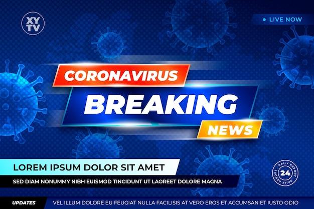 Coronavirus breaking news background