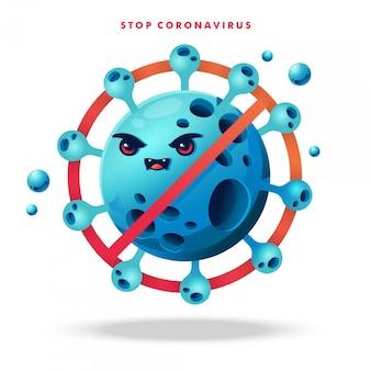コロナウイルスの漫画のキャラクターの背景
