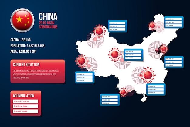 Mappa di coronavirus cina infografica