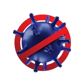 Фон концепции коронавируса.