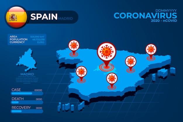 Mappa di coronavirus paese infografica
