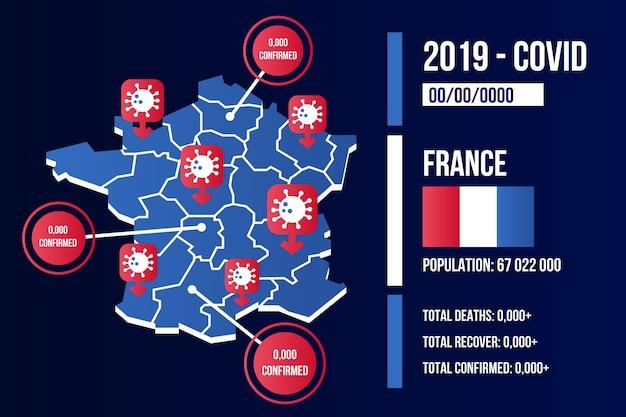 Coronavirus country map infographic