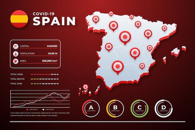 코로나 바이러스 국가지도 infographic