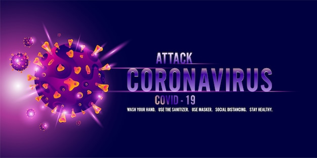 Coronavirus, covid-19 background illustration with disease cells