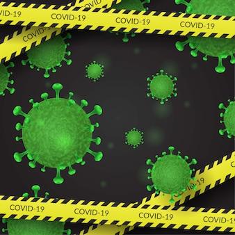 Фон коронавируса ковид-19