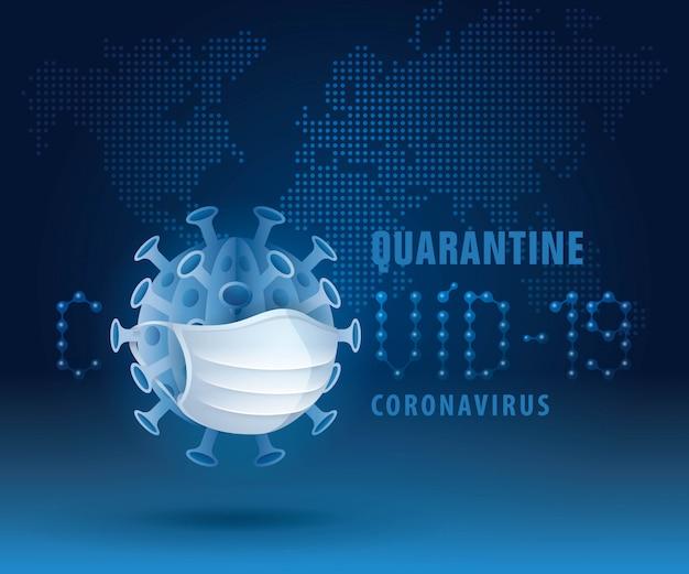 コロナウイルスcovid-19パンデミック発生ウイルス。 covid-19防止コンセプト