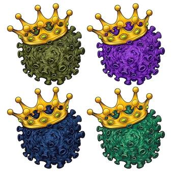 Коронавирус. covid-19. вирион коронавируса на белом фоне. 2019-ncov.
