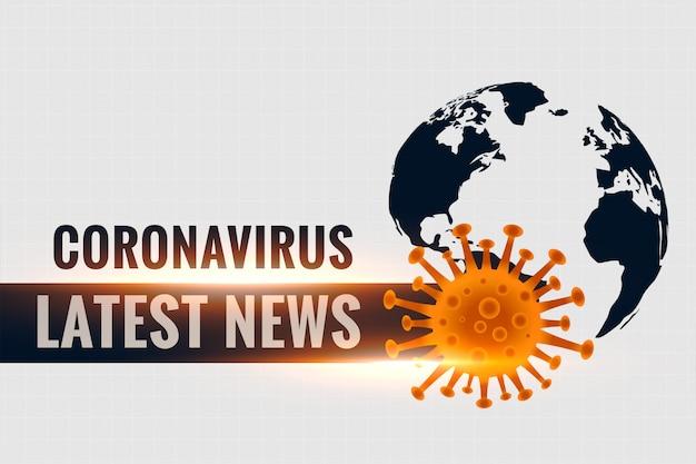 コロナウイルスcovid19の最新の統計とニュースの背景 無料ベクター