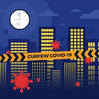 Coronavirus curfew concept