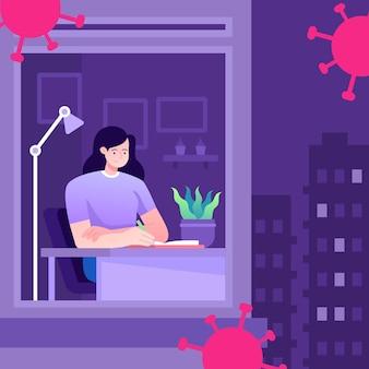 코로나 바이러스 통금 시간 개념