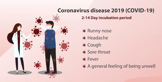 Коронавирусная болезнь (covid-19). медицинская консультация векторный концепт.