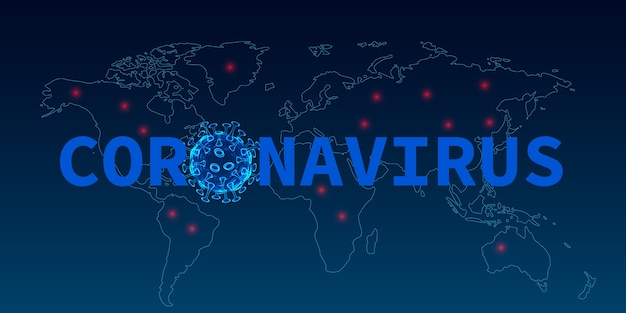 Coronavirus disease covid medical infection pandemic risk on world map background