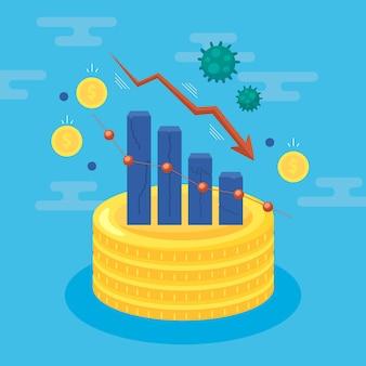 Coronavirus economy impact concept